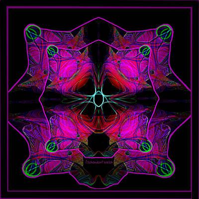Digital Art - 2632 Mandala Pink 2018 by Irmgard Schoendorf Welch