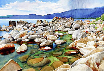 Lums Painting - #264 Crystal Bay 3 by William Lum