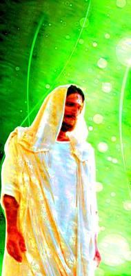 Silhouette Digital Art - Jesus Christ - Religious Art by Elena Kosvincheva