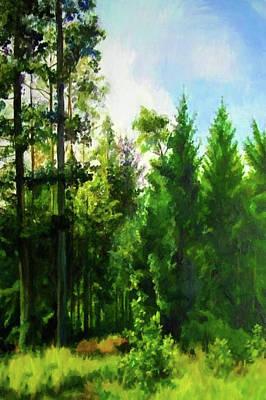 Sunrise Painting - Nature Landscape Painted by Edna Wallen