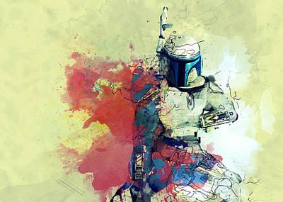 Storm Trooper Digital Art - Star Wars by Elena Kosvincheva