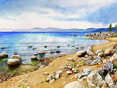 #265 Chimney Beach Art Print