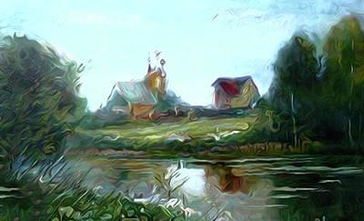 Sunrise Painting - Nature Landscape Artwork by Edna Wallen