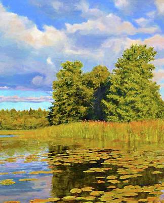 Sunrise Painting - Nature Landscape Graphics by Edna Wallen