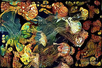 Abstract Jellyfish Art Print