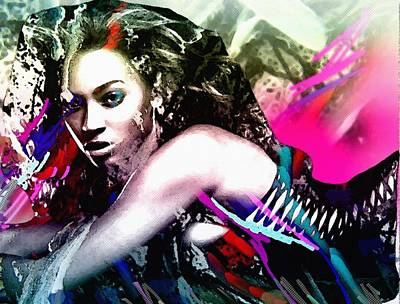 Beyonce Knowles Art Print