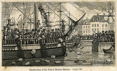 Boston Tea Party 1773 Print by Granger
