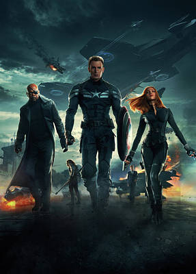 Captain America Civil War 2016 Art Print by Unknown