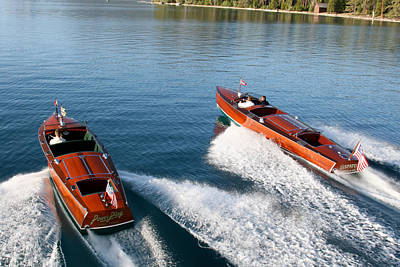 Photograph - Classic Runabouts by Steven Lapkin