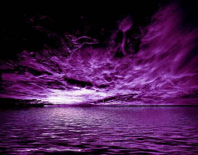 Heavens Waves - Sri Yantra Art Print