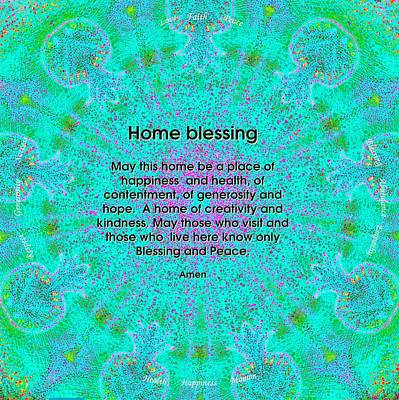 Blessing Painting - Home Blessing by Sandrine Kespi