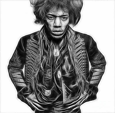 Blues Mixed Media - Jimi Hendrix Collection by Marvin Blaine