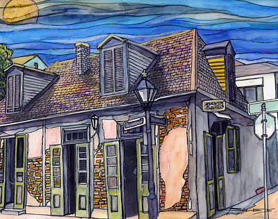 New Orleans Drawing - 27 Lafitte's Blacksmith Shop by John Boles