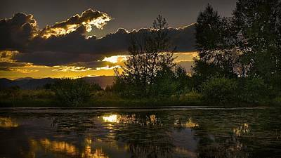 Landscape Digital Art - Lake by Super Lovely