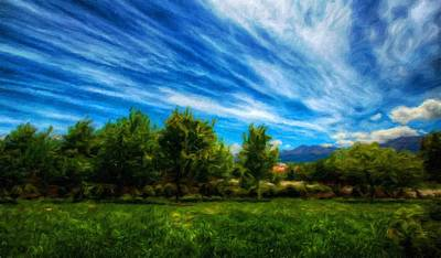 Cloud Painting - Nature Scenery Oil Paintings On Canvas by Margaret J Rocha