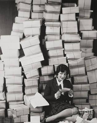 Mail Box Photograph - Silent Film Still by Granger