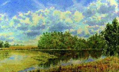 Ocean Painting - Nature Cool Landscape by Edna Wallen