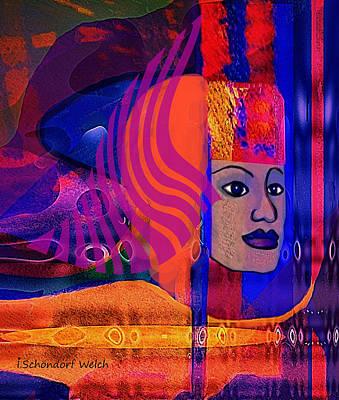 Digital Art - 2727 Sphinx Lady 2018 by Irmgard Schoendorf Welch