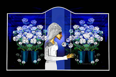 Digital Art - 2735 Roses For The Bride 2018   by Irmgard Schoendorf Welch