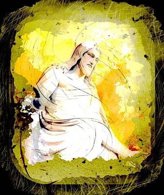 God Digital Art - Jesus Christ - Religious Art by Elena Kosvincheva