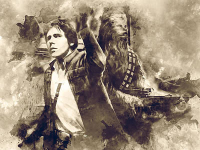 Star Wars Art Print by Elena Kosvincheva