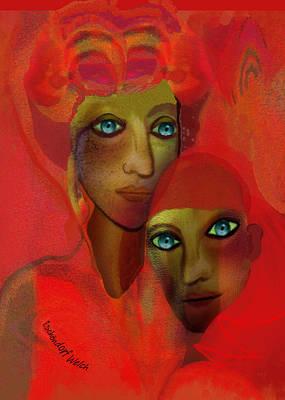 Digital Art - 2746  Magic Bonds V by Irmgard Schoendorf Welch