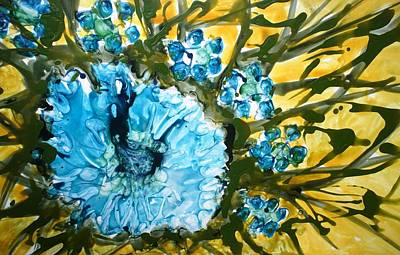 Painting Royalty Free Images - Divine Blooms Royalty-Free Image by Baljit Chadha