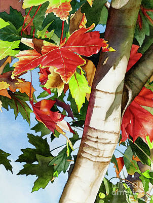Lums Painting - #275 Maple In Rocklin by William Lum