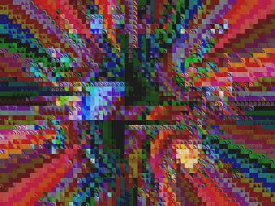 Digital Art - 2752 Squares Mosaic by Maciek Froncisz