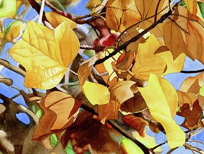 Lums Painting - #277 Tulip Tree by William Lum