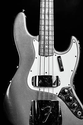 Photograph - 277.1834 Fender 1965 Jazz Bass Black And White by M K Miller