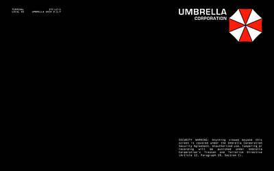 Resident Evil Digital Art - 27898 Resident Evil Umbrella Login Screen by F S