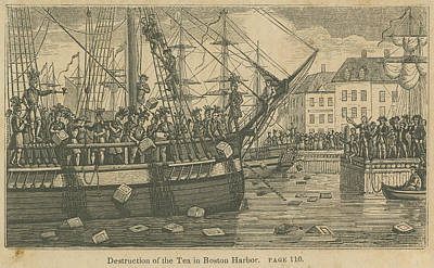 Photograph - Boston Tea Party, 1773 by Granger