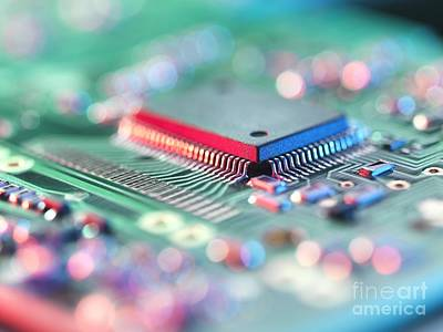 Mother Board Photograph - Circuit Board by Tek Image