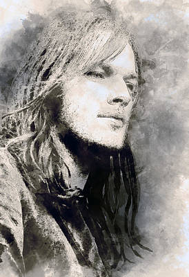 Pink Floyd Digital Art - David Gilmour. Pink Floyd. by Best Actors