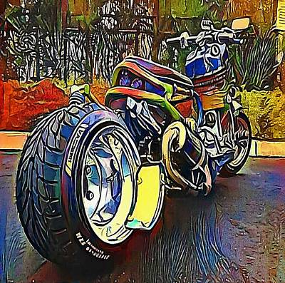 Machine Part Digital Art - Harley-davidson - My Www Vikinek-art.com by Viktor Lebeda