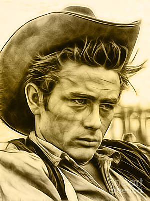 Mixed Media - James Dean Collection by Marvin Blaine