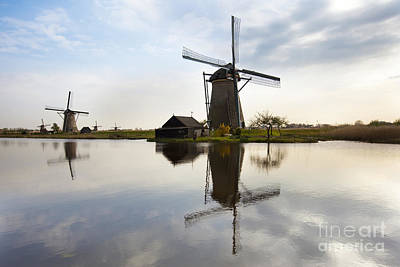 Mills In Netherlands Art Print by Andre Goncalves