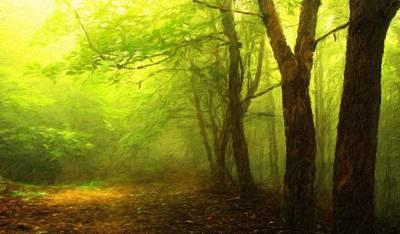 Bob Ross Painting - Nature Landscape Light by Margaret J Rocha