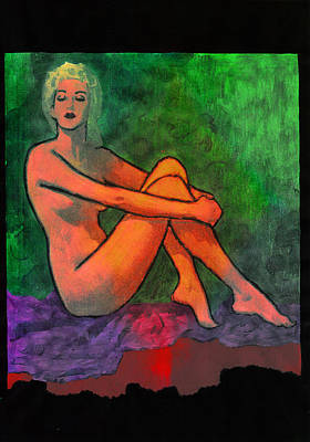 Mixed Media - Nude Woman by Svelby Art