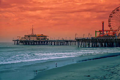 Photograph - Santa Monica Pier Collection- 35/36 by Gene Parks