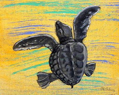 Ocean Turtle Painting - Sea Turtle by M Gilroy