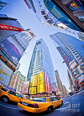Times Square Art Print by Stuart Monk