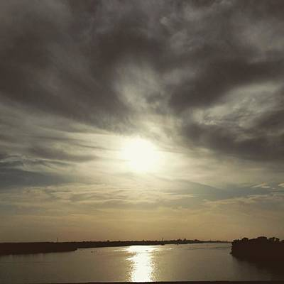 New Orleans Wall Art - Photograph - Sunset Over Water by Jonathan Stoops
