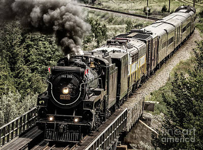 Photograph - 2816 Empress At Seebee Crossing by Brad Allen Fine Art