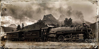 Photograph - 2816 Empress At Three Sisters - Canmore by Brad Allen Fine Art