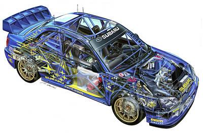 28204 Subaru Subaru Impreza Wrc Art Print by F S