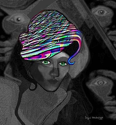 Digi-art Digital Art - 284 - Annas  Hat by Irmgard Schoendorf Welch
