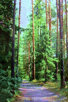 Tree Painting - Nature Landscape Pictures by Edna Wallen