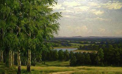 Sky Painting - Nature Oil Canvas Landscape by Edna Wallen